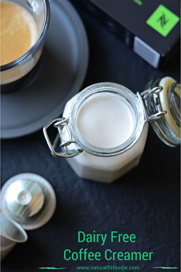 Dairy Free Coffee Creamer - This vegan dairy free coffee creamer is rich and sweet . Free from refined sugars or sweeteners it's the only dairy free coffee creamer you will ever need!