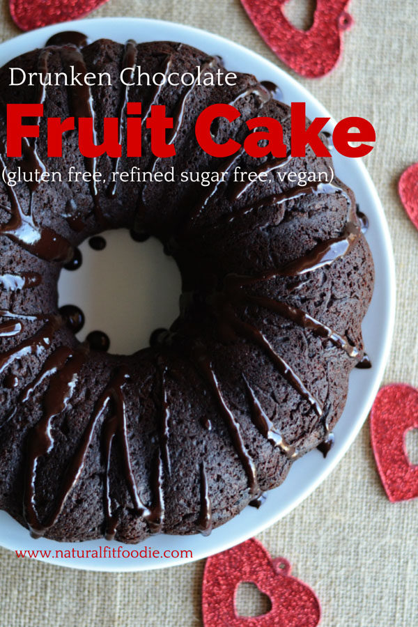 drunken chocolate fruit cake