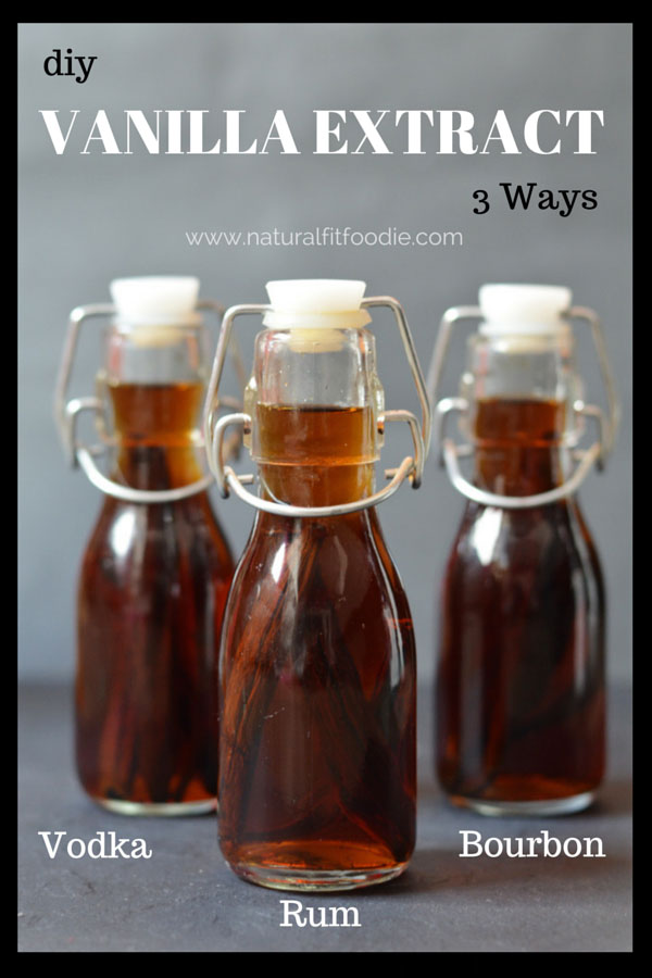 DIY Vanilla Extract - Bourbon! Rum! Vodka! Take your recipes to the next level with these 3 unique flavours of vanilla extract. They make excellent holiday gifts too!