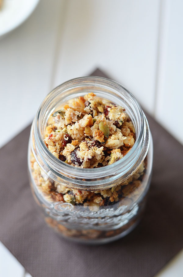 Cranberry Coconut Granola - This cranberry coconut granola makes the perfect healthy on the go breakfast or snack.