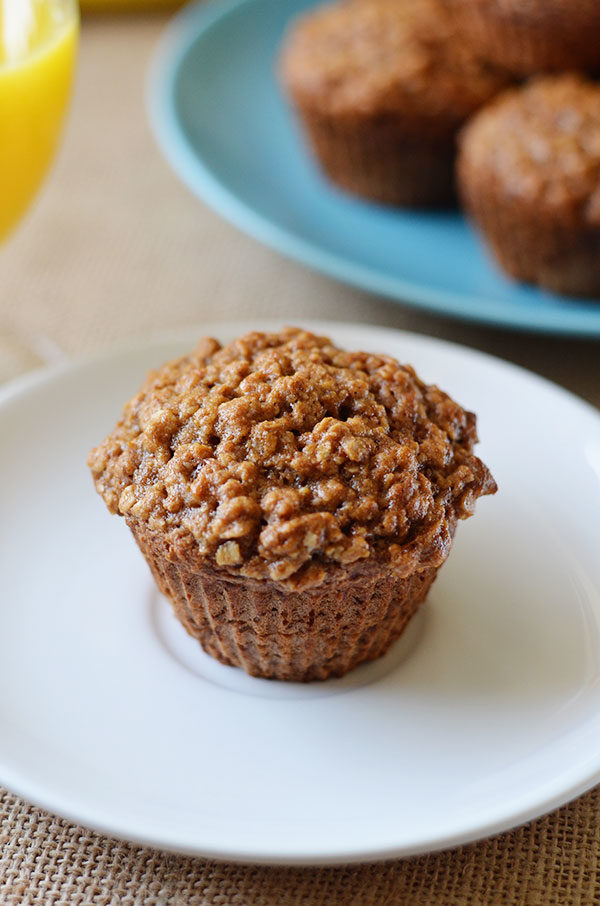 banana muffins with coconut streusel topping