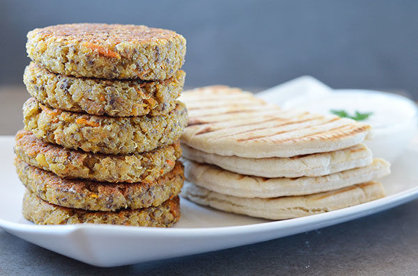 quinoa falafel patties