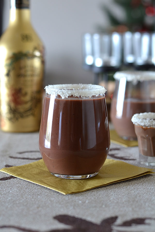 Drunken Coconut Hot Chocolate - This drunken coconut hot chocolate is decadent, smooth and intense. A real holiday treat!
