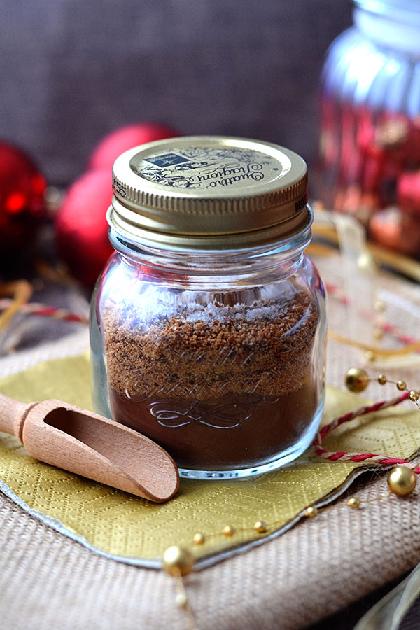 Homemade Hot Chocolate Mix - Try this Easy Homemade Hot Chocolate Mix and you'll never buy instant cocoa mixes again! Made from three simple real food ingredients it contains no milk powder or refined sugar. Makes a decadent creamy hot chocolate the whole family will love! Perfect way to warm up during those cold winter months.