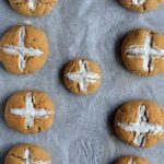 Hot Cross Buns Recipe - These gluten free, vegan hot cross buns are crusty on the outside, soft and fluffy on the inside! You've gotta try this healthy version of everyone's favourite Easter treat!