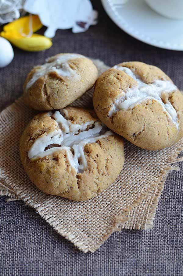 Gluten free vegan hot cross buns
