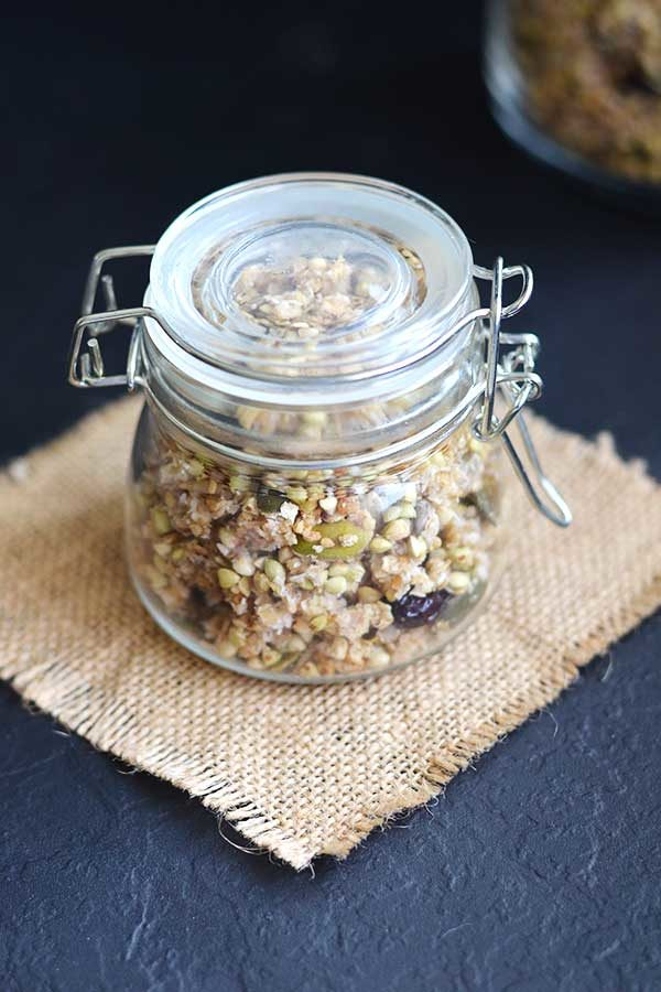 Buckwheat Granola - This buckwheat granola is the perfect on the go gluten free nutrient dense breakfast or snack!!