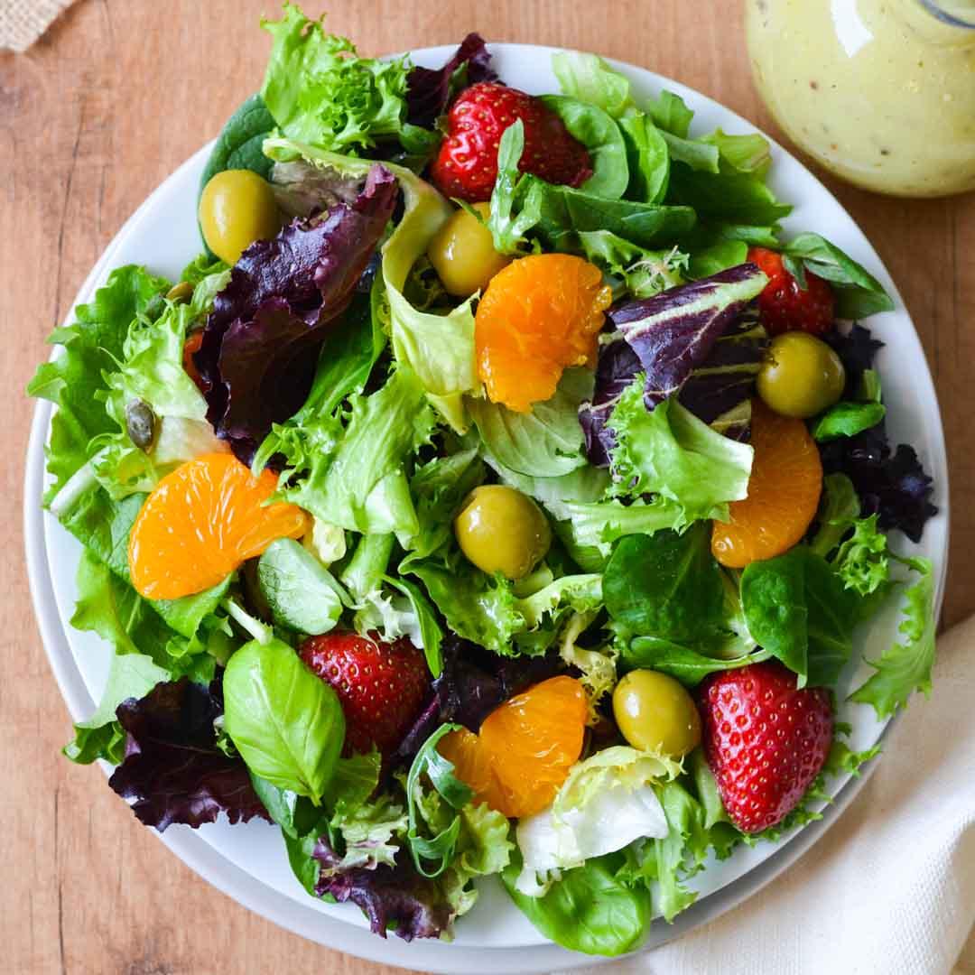 Simple Summer Mixed Green Salad (gluten Free, Vegan