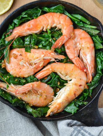 Shrimp with Swiss Chard-1