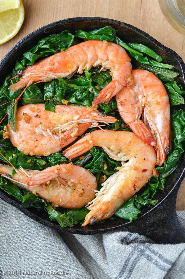 Shrimp with Swiss Chard