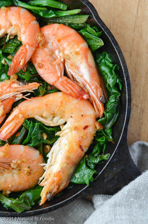 Shrimp with Swiss Chard-2