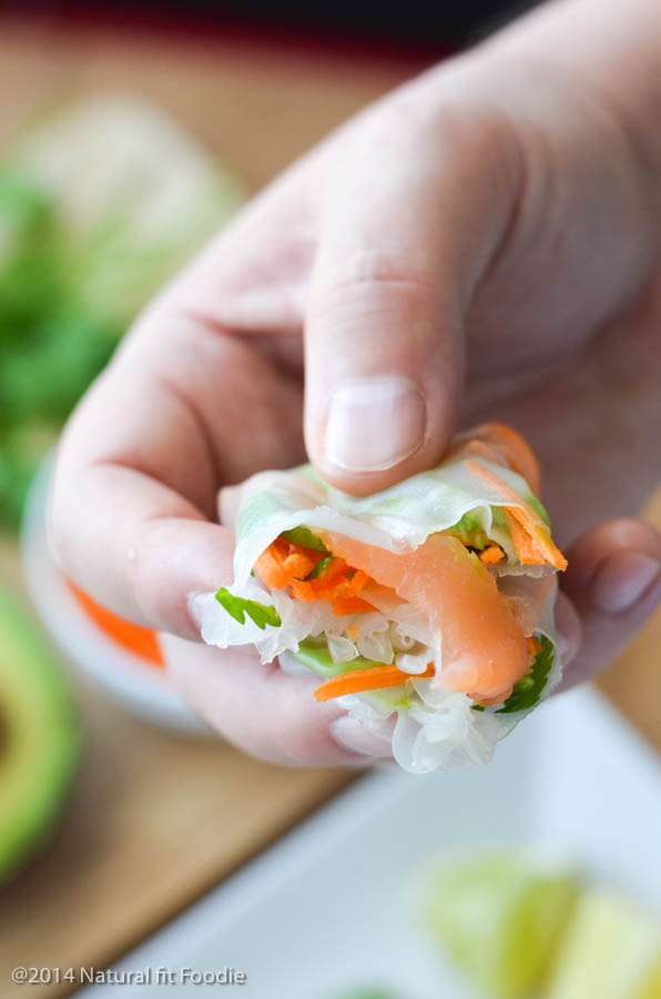 Smoked Salmon Rice Paper Rolls