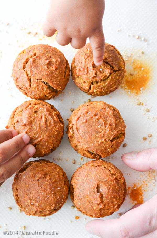Turmeric muffins make for a delicious nutrient dense snack or light breakfast for everyone.