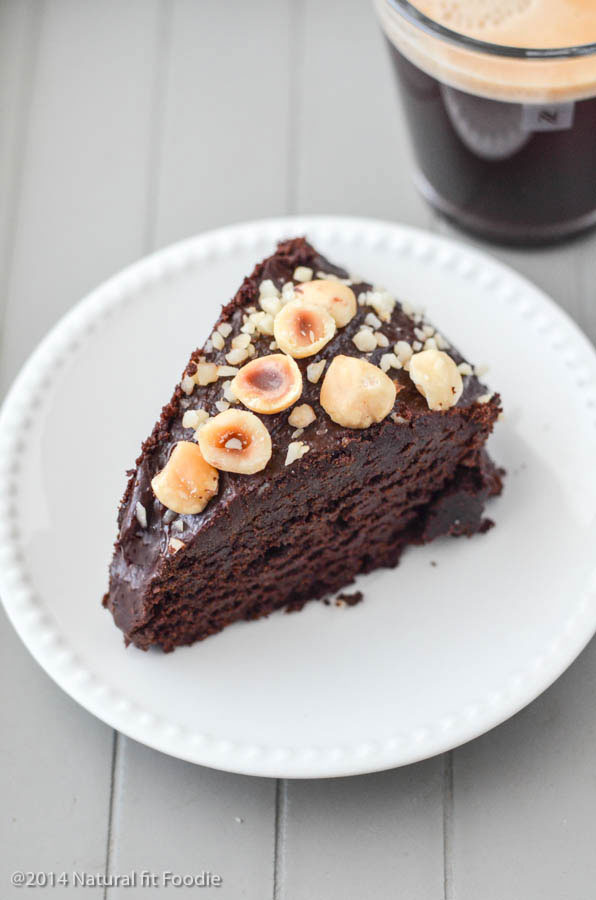 This decadent Hazelnut Chocolate Zucchini Cake is chock full of wholesome ingredients like veggies, fruit and 100% whole grain gluten free flours. Who says you can't have cake on a healthy diet?