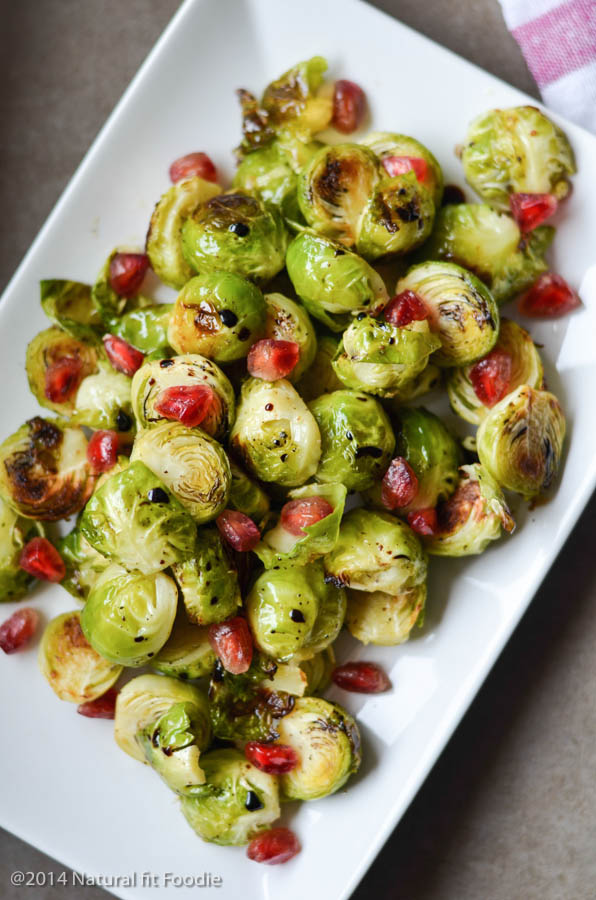 These roasted brussels sprouts with pomegranate makes the perfect side dish! If you think brussels sprouts are boring make this and think again.