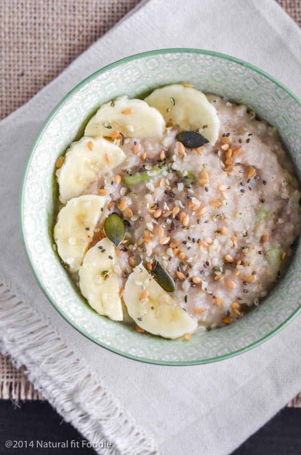 Zoats (zucchini oatmeal, gluten free, vegan)
