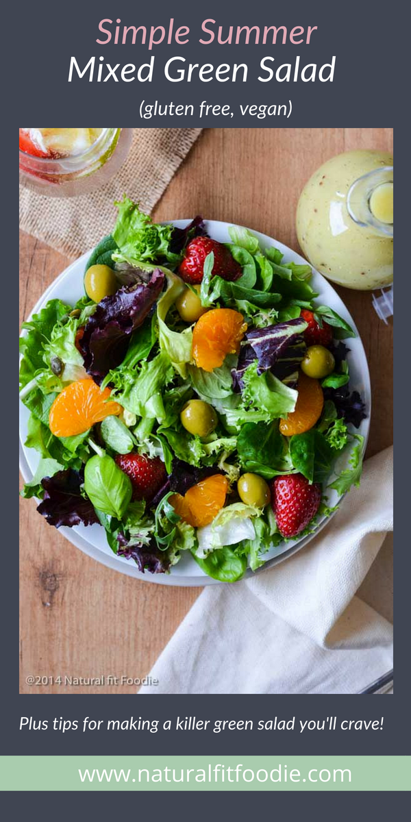 If you have a hard time eating veggies then try this easy mixed green salad. Plus 3 simple tips for making a killer green salad you body will long for! #salad #summersalad #mixedgreensalad #mixedgreensummersalad #interestingsalad #easysalad