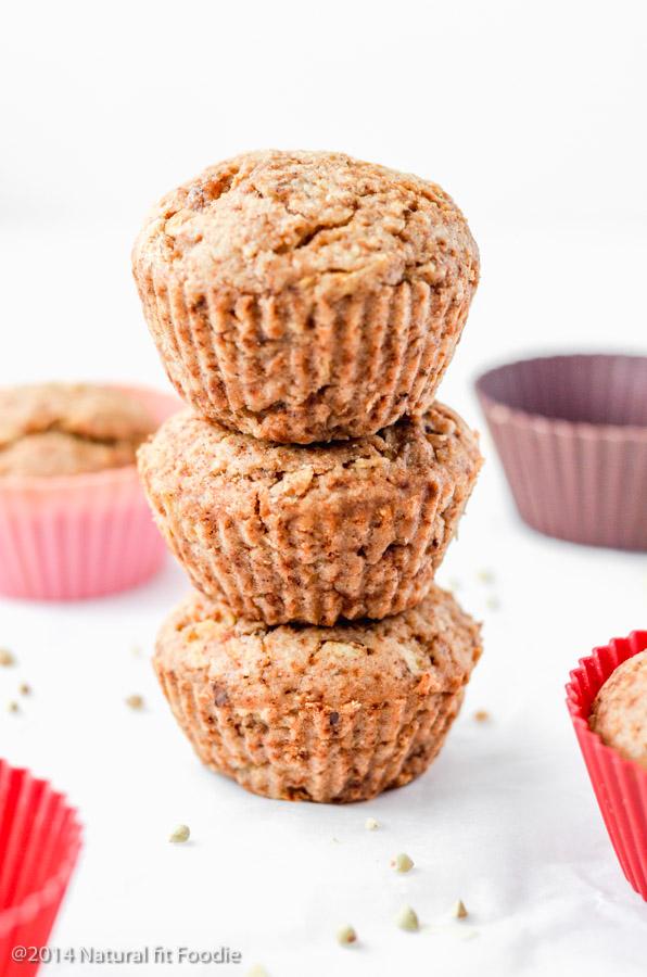 Healthy Applesauce Muffins (gluten free, vegan, refined sugar free)