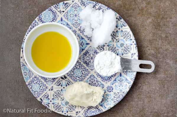 ingredients for making homemade body butter